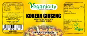 Korean Ginseng 600mg